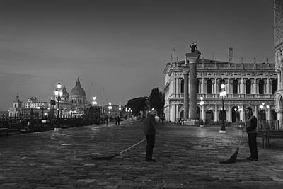 Piazza San Marco Photograph - Venice Sweepers by Marion Galt