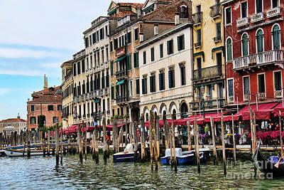 Venice Vacation Print by Mariola Bitner