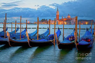 Venice View To San Giorgio Maggiore Print by Heiko Koehrer-Wagner