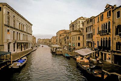 Villa Mixed Media - Venice Waterfront Marketplace by Cliff Wassmann