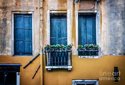 Venice Photograph - Venice Windows by Craig Boudreaux