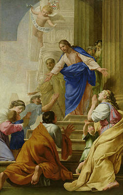 Venite As Me Omnes Print by Eustache Le Sueur