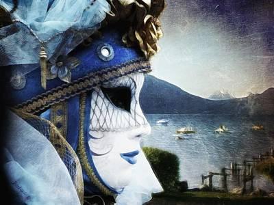 Venitian Carnival - La Dame Du Lac Print by Barbara Orenya