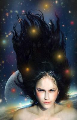Floating Girl Digital Art - Venus by Alessandro Della Pietra