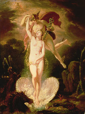 Venus And Mercury Print by Pierre-Nolasque Bergeret