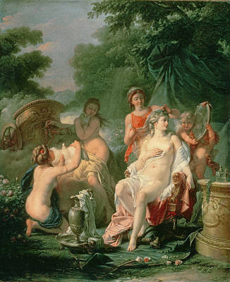 Water Jug Photograph - Venus At Her Toilet, 1760 by Hugues Taraval