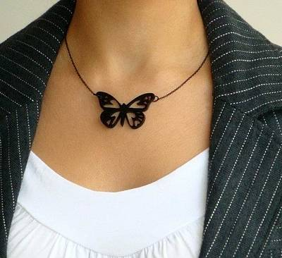 Venus Butterfly Necklace Original by Rony Bank