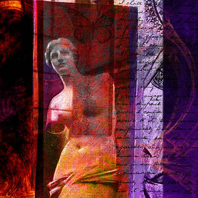 Louvre Mixed Media - Venus De Milo by Chris Bradley