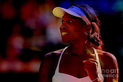 Venus Williams Mixed Media - Venus Williams by Marvin Blaine