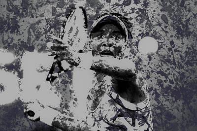 Serena Williams Digital Art - Venus Williams Paint Splatter 2e by Brian Reaves