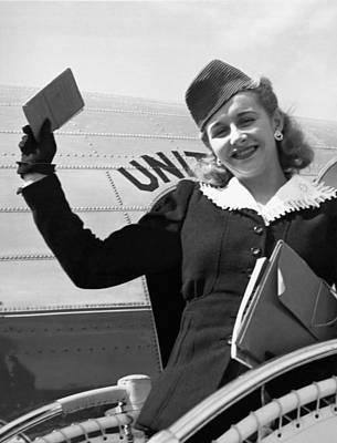 Blonde Hair Photograph - Vera Hruba Gets New Visa by Underwood Archives