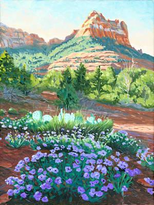 Verbena Painting - Verbena In Bloom by Steve Simon
