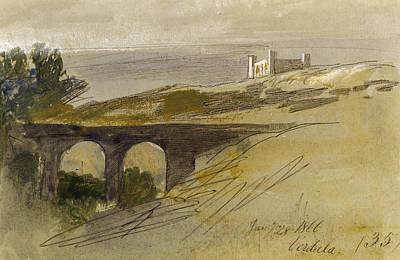 Verdala Malta Print by Edward Lear