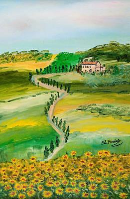 Italy Farmhouse Painting - Verde Sentiero by Loredana Messina