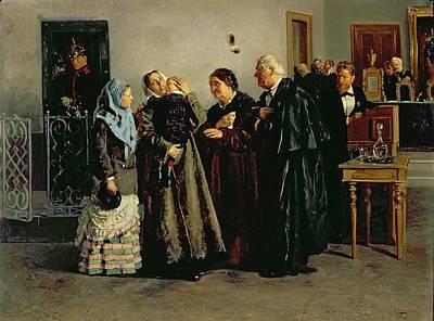 Verdict, Not Guilty, 1882 Oil On Canvas Print by Vladimir Egorovic Makovsky