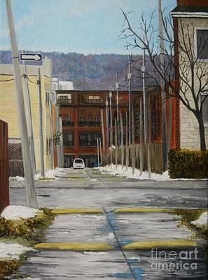 Quebec Art Painting - Verdun Lane by Reb Frost