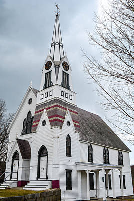 Vermont Country Church Print by Sherman Perry