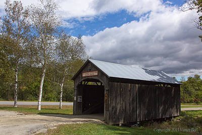 Vermont Country Store Photograph - Vermont Country Store Covered Bridge by Vance Bell