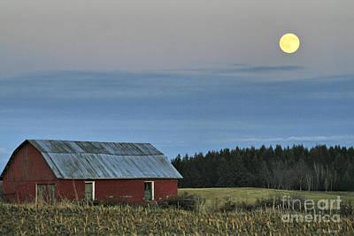 Vermont Full Moon Print by Deborah Benoit