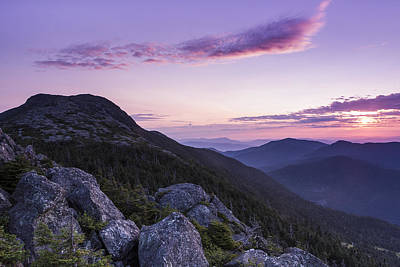 Vermont Mount Mansfield Sunrise Green Mountains Print by Andy Gimino
