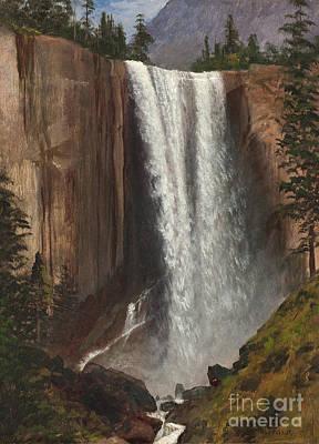 Yosemite National Park Painting - Vernal Falls by Albert Bierstadt