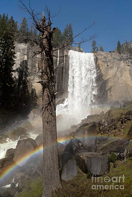 Vernal Photograph - Vernal Falls With Rainbow by Jane Rix