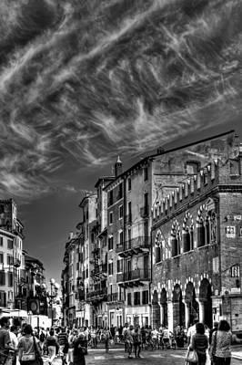 Bnw Photograph - Verona  Italy by Carol Japp