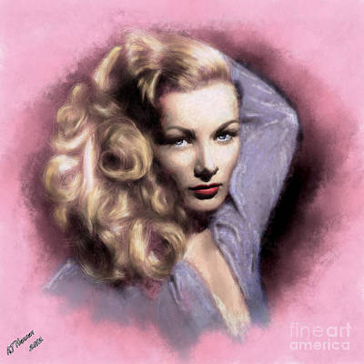 Veronica Lake Print by Arne Hansen