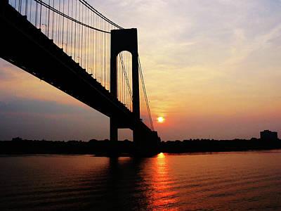 Verrazano Bridge At Dawn Print by Susan Savad