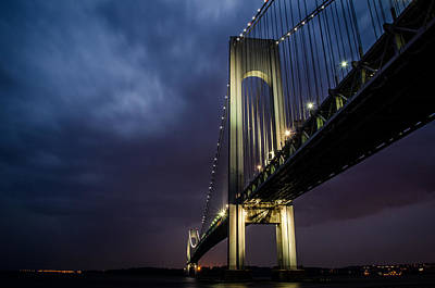 Verrazano-narrows Bridge Print by Johnny Lam
