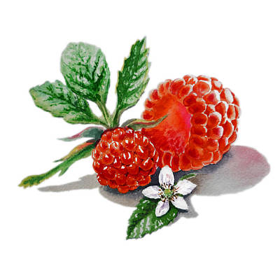 Raspberry Painting - Artz Vitamins A Very Happy Raspberry by Irina Sztukowski