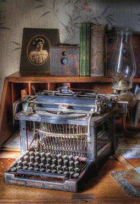 Typewriter Photograph - Very Old Typewriter by David and Carol Kelly