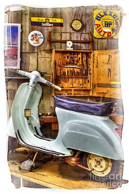 Vespa Scooter Print by Heiko Koehrer-Wagner