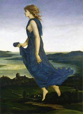 Vesper The Evening Star Print by Edward Burne Jones