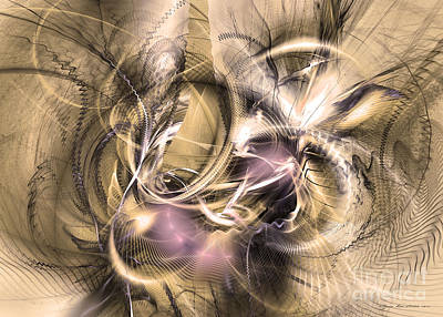 Vestigium Aeternum - Abstract Art  Original by Sipo Liimatainen
