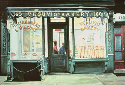 Storefront Painting - Vesuvio Bakery by Anthony Butera