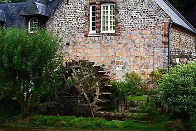 Veules Les Roses Watermill Print by Aidan Moran