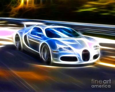 Transportation Mixed Media - Veyron - Bugatti by Pamela Johnson