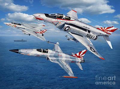 F-14 Digital Art - Vf-111 Sundowners Heritage by Stu Shepherd
