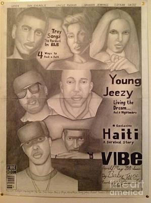 Drake Drawing - Vibe Magazine Cover Collage Created In D. V. I. Prison by Young CHOICE