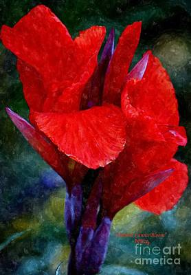 Vibrant Canna Bloom Print by Patrick Witz