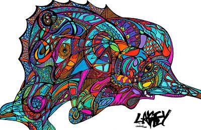 Swordfish Drawing - Swordfish by Lakey Hinson