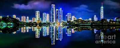 Gold Coast Shines Print by Az Jackson