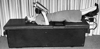 Vibrating Weight Loss Machine Print by Underwood Archives