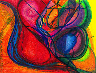Drawing - Vibrational Heart Healing - Sounds Of Radiant Joy, Purity Of Heart, Soul, Mind And Body Aligned by Daina White