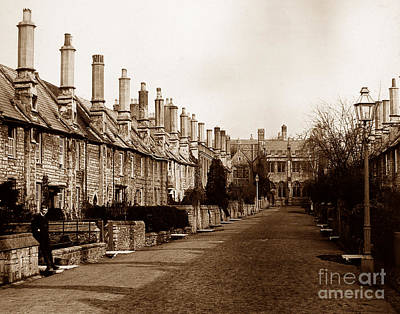 Vicars Close Photograph - Vicars Close Alms Houses Wells England by The Keasbury-Gordon Photograph Archive