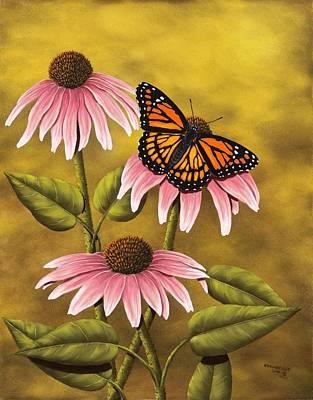 Coneflowers Painting - Viceroy by Rick Bainbridge