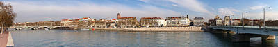 Rhone Alpes Photograph - Victor Augagneur Bridge Over The Rhone by Panoramic Images