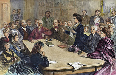 Suffrage Painting - Victoria Claflin Woodhull (1838-1927) by Granger