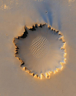 Victoria Crater Mars Print by Nasa